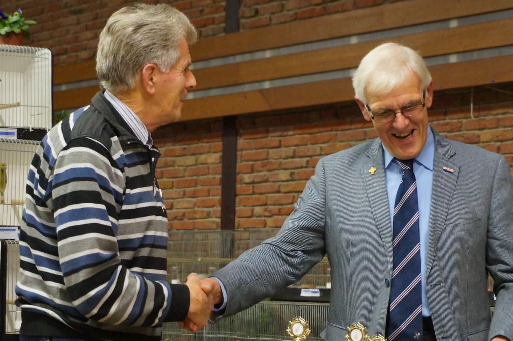 2013 - De heer Tj van der Berg 40 jarig lidmaatschap.